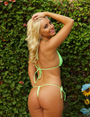 BriG gstring bikini swimwear for women by brigitewear in neon lime