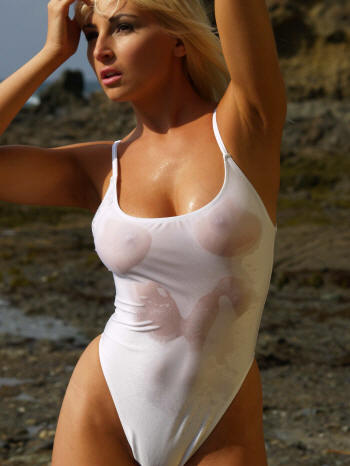 st tropez sheer when wet thong one piece swimwear by brigitewear
